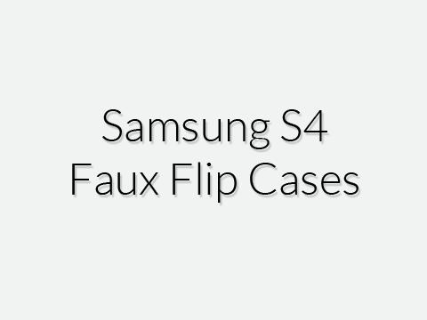 Samsung S4 Faux Flip Cases