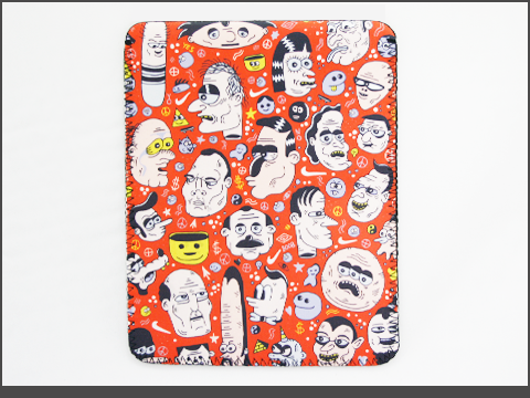 b- iPad  - Neoprene Sleeve - doodles2-b