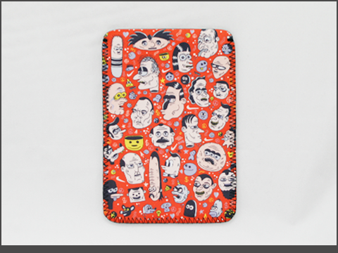 b-iPad  mini- Neoprene Sleeve -doodles2
