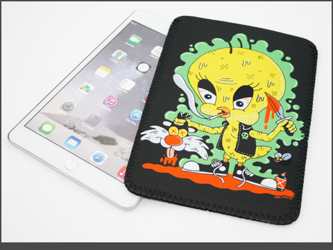 b-iPad  mini- Neoprene Sleeve-tweetie_black