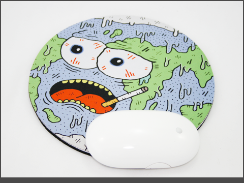 c-230d - Neoprene Mouse Mat- earth