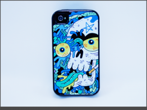 iPhone 4-4s - Defender Style - blueskullguts